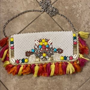 Lily pulitzer beaded clutch